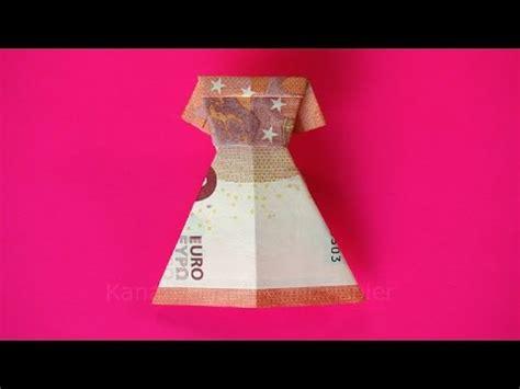 hochzeitskleid aus geld falten geldscheine falten kleid zum geldgeschenke basteln z b