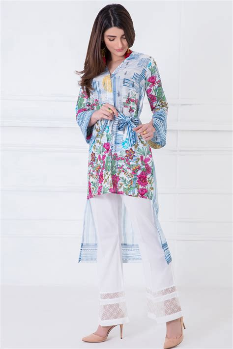 K Dizain Gallery 1 | khaadi pret collection printed kurta in white