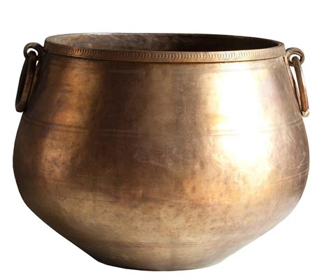 Bronze Planter Large Bronze And Brass Planter With Detailing Early
