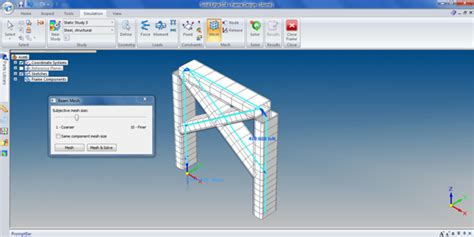frame design solid edge solid edge with sync tech 4 1d beams and 2d planes for