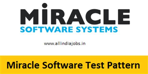 test pattern software miracle software systems test pattern written online