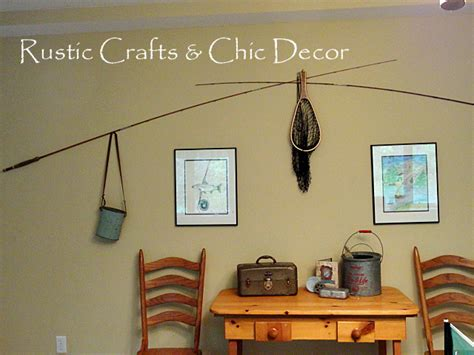 hunting and fishing home decor rustic fishing pole art vintage fishing decorating ideas