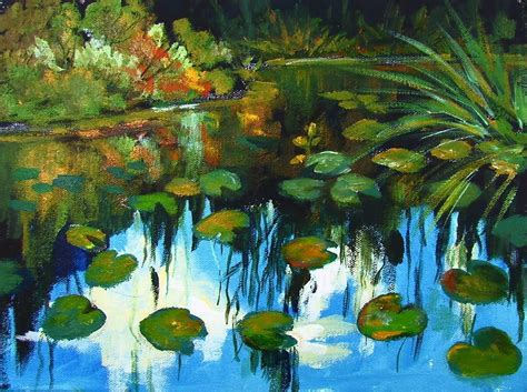 acrylic painting cook how to paint monet style water lilies in acrylic paint by