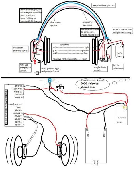 headphone wiring diagram with mic headphone