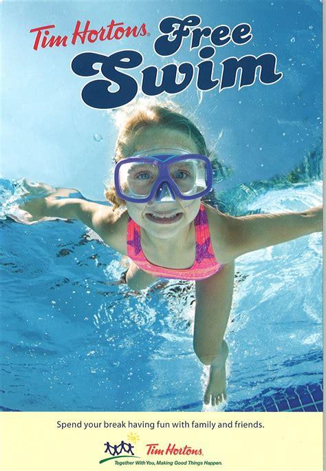 tim hortons canada   summer  swim schedule