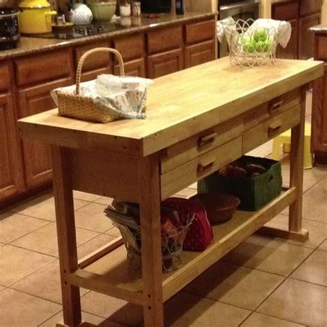 simple kitchen island    woodworking bench