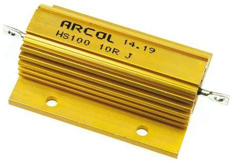 arcol resistors uk hs100 10r j arcol hs100 series aluminium housed axial panel mount resistor 10ω 177 5 100w arcol