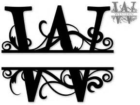 Letter J Wall Decor Split Monogram Fonts Free Quotes