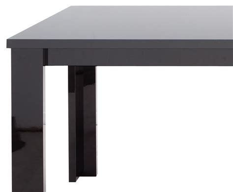 montreal black high gloss dining table