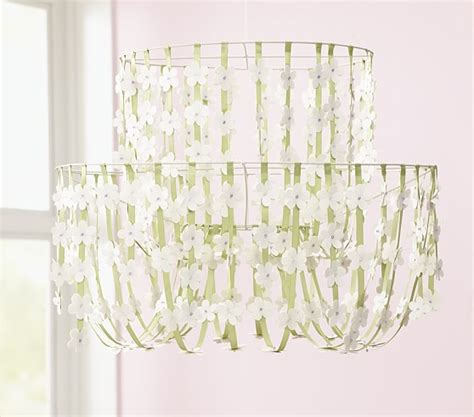 paper flower chandelier pottery barn