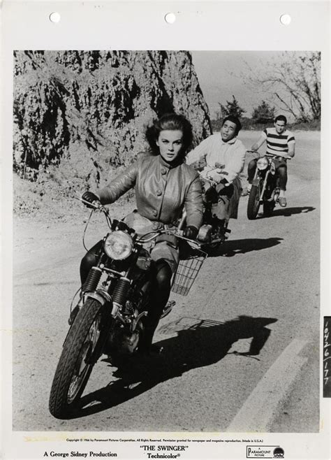 swinging tumbler ann margret actress motorcyclist moto lady