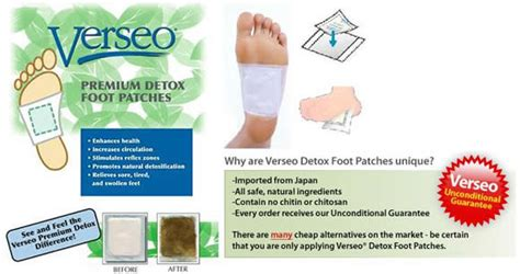 Do Verseo Detox Foot Patches Work by New Verseo Detox Foot Cleansing Premium Patches Ebay