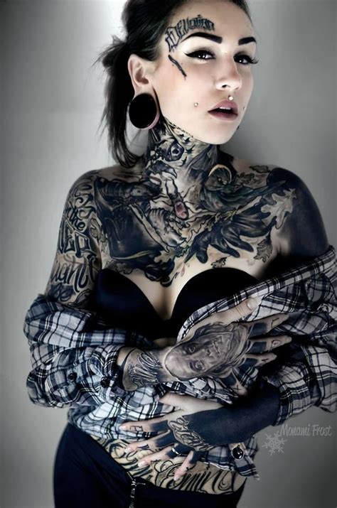 tattoo body tumblr monami frost tattooed women pinterest