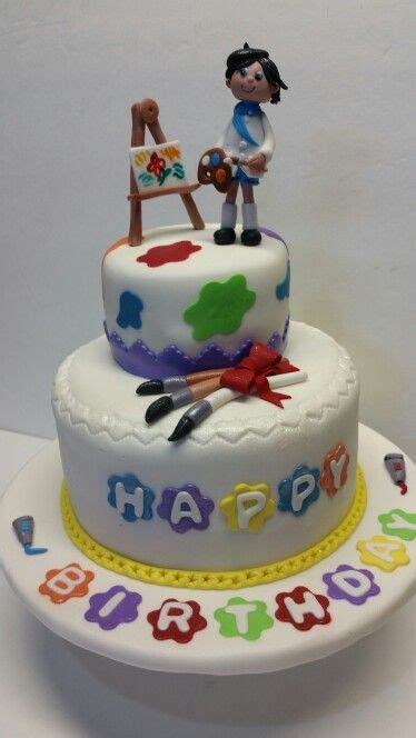 themed birthday cakes alberton painter cake painter cake pinterest cake artist
