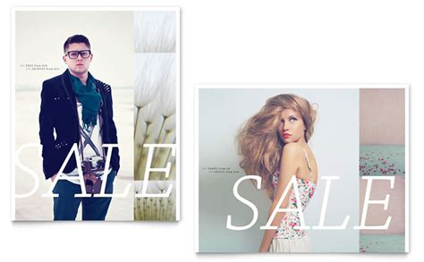 design clothes for sale urban fashion sale poster template design