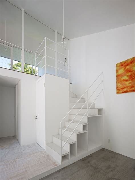 Low Budget Modern 3 Bedroom House Design interior brown wooden stack loft stair connected by