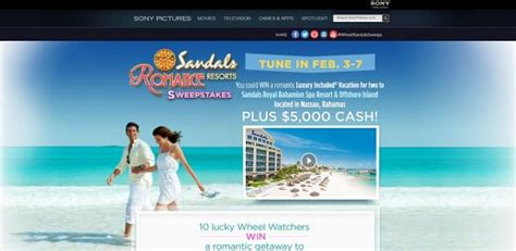 Wheel Of Fortune Sweepstakes 2014 - wheel of fortune sandals resorts romance sweepstakes