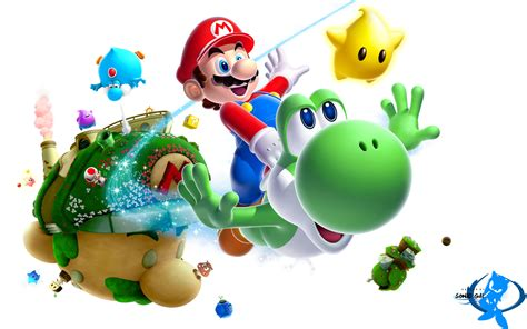 wallpaper 3d png desktop wii wallpapers of super mario galaxy 2 mario kart