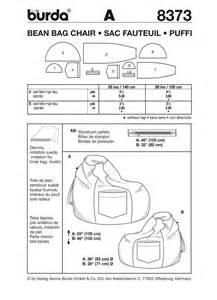 Bean Bag Template by Burda Pattern Bd8373 Beanbag Chair Easy Jaycotts Co