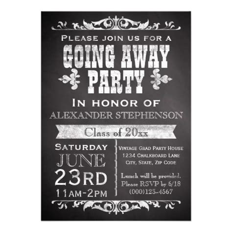 going away invitation template most popular farewell invitations