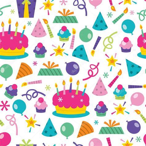 seamless pattern birthday birthday surprise seamless pattern background stock