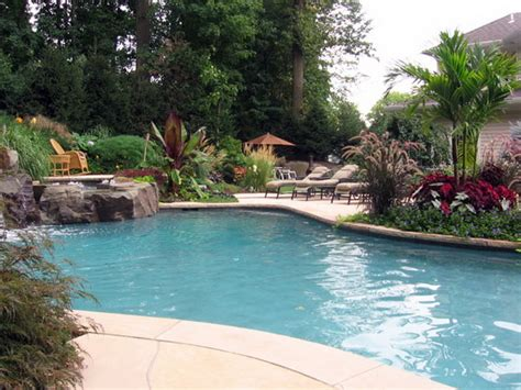 Backyard With Pool Landscaping Ideas Gardening Landscaping Small Backyard Landscaping Ideas With A Swimming Pool Small Backyard