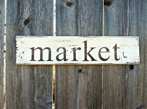 Handmade Sign - made to order vintage style market wooden sign handmade