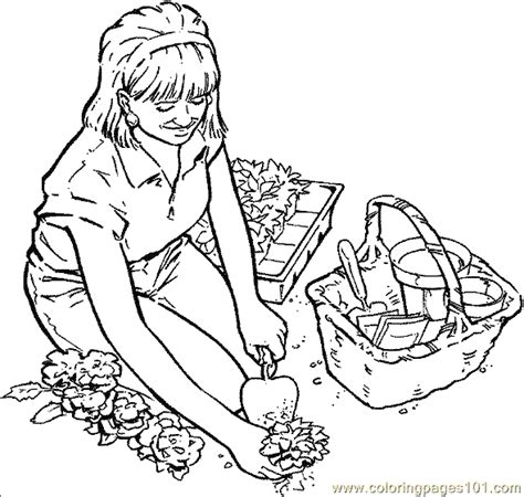 garden coloring pages free printable coloring pages gardening coloring page 01 natural world