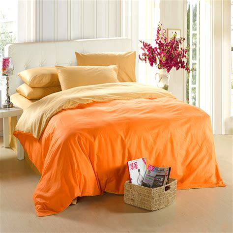orange bedding yellow orange bedding set king size quilt doona duvet cover bed sheets linen