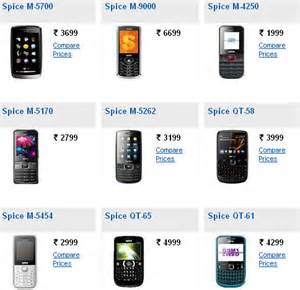 Mobile Price List Spice Mobile Phones Price List With Pictures Find Mobile