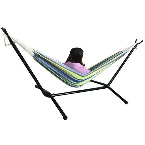 hammock double swing outdoor swing chair double hammock with steel stand