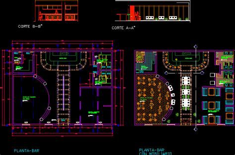 coffee bar dwg elevation  autocad designs cad