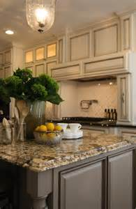 Kitchen Island Granite Countertop Gold Granite Countertops Transitional Kitchen M E