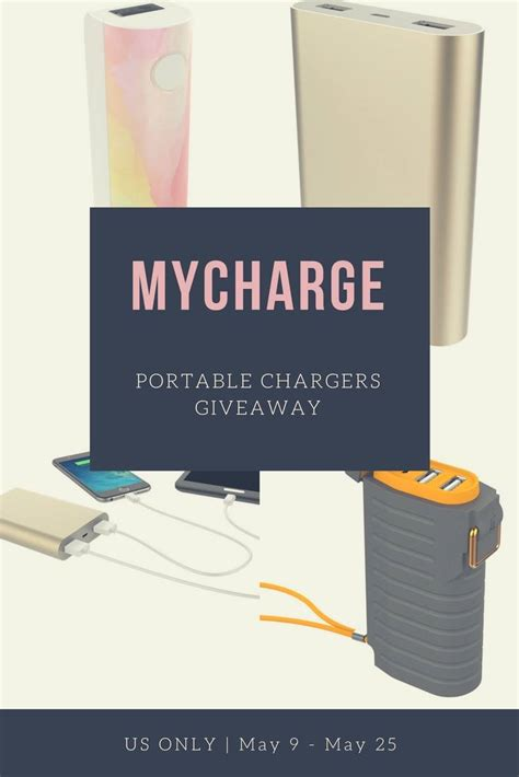 Charger Giveaway - mycharge portable chargers giveaway it s free at last