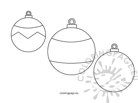baubles templates to colour free coloring pages of baubles