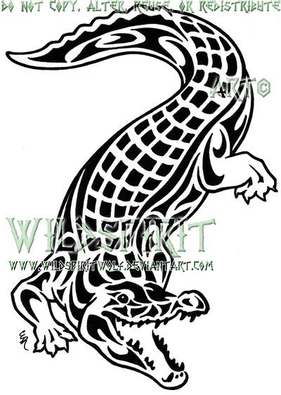 tribal gator tattoo tribal alligator