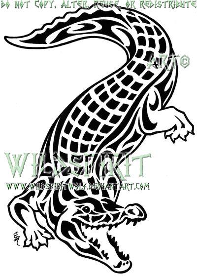 tribal crocodile tattoo designs saltwater crocodile by wildspiritwolf on deviantart