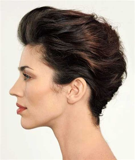 pixie french hairstyle slicked back short pixie french twist prom dress gaga