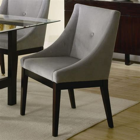 furniture designer faux leather and chrome dining chair exclusive gray dining chairs with arms
