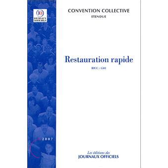 Grille Salaire Restauration Rapide by Convention Gratuite Restauration Rapide