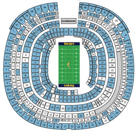 san diego charger seating chart how many seats in qualcomm stadium images