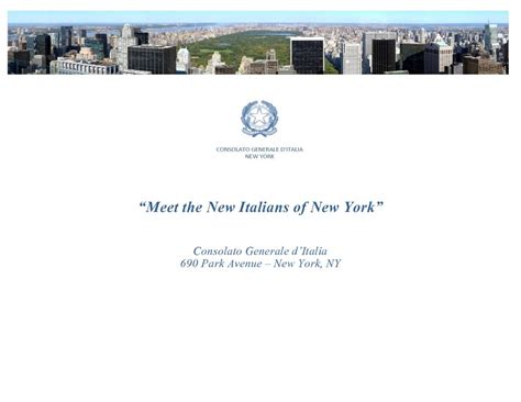 consolato italiano a new york consolato generale new york