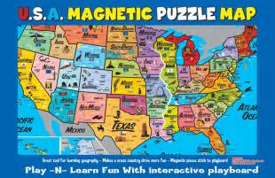 us map and puzzles usa magnetic puzzle map