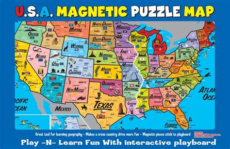 map puzzles usa usa magnetic puzzle map