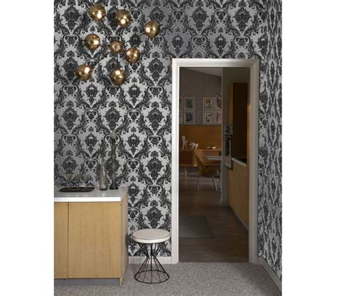 dorm wallpaper damsel metallic silver tempaper removable wallpaper