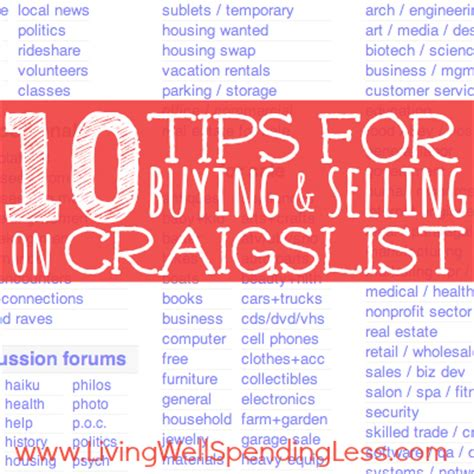 7 Tips On Buying Stuff From On Craigslist by 10 Tips For Craigslist Living Well Spending Less 174