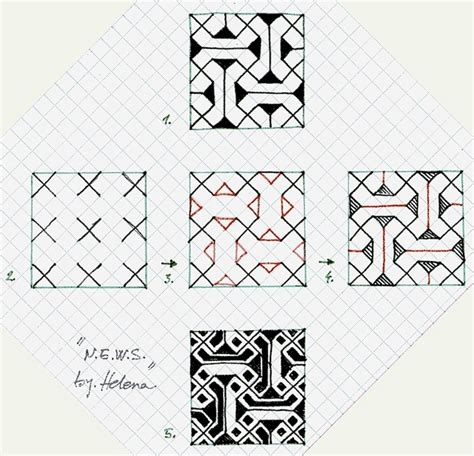 pattern drawing paper 1183 best zentangle pattern steps how to draw images