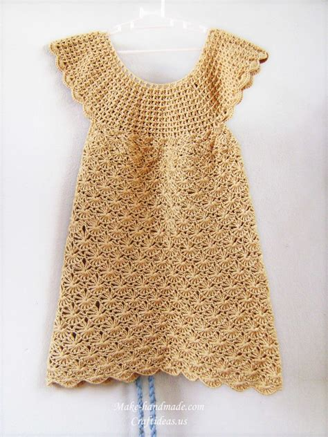 Handmade Pattern - crochet baby dress crochet pattern make handmade