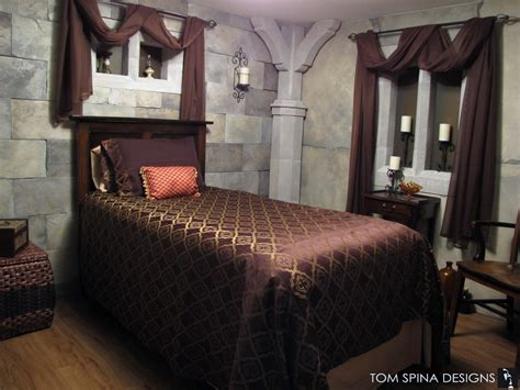 theme bedroom furniture castle themed bedroom foam sculpted decor tom spina