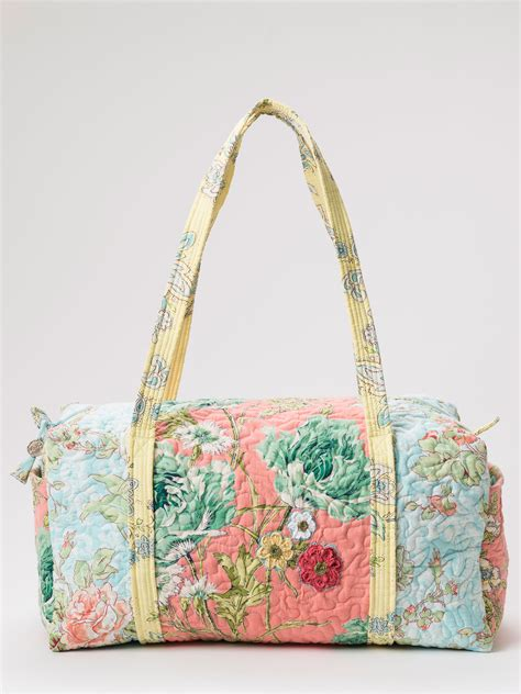 Patchwork Duffle Bag - garden patchwork duffle bag accessories bags beautiful